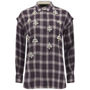 By Malene Birger Women's Alfredah Embellished Shirt - Deep Plum