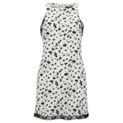 VILA Women's Viflowerfly Dress - Snow White