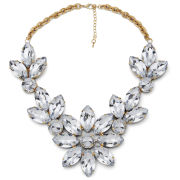 Impulse Women's Flower Gem Necklace - Clear