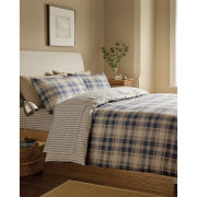 Tartan Housewife Pillowcase - Pair - Navy