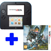 Nintendo 2DS Black & Blue Console: Bundle includes Monster Hunter 3 Ultimate