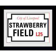 "Strawberry Field - 8"""" x 6"""" Framed Photographic"