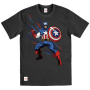 Captain America Men's T-Shirt - Black Shogun Design