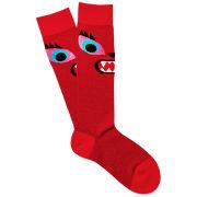 Karl Lagerfeld Women's Monster Mouth Socks - Red