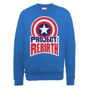 Marvel Avengers Assemble Captain America Project Rebirth Men's Sweatshirt - Royal Blue