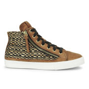BOSS Orange Women's Nycol-S Hi-Top Trainers - Medium Brown