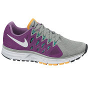Nike Women's Zoom Vomero 9 Running Shoes - Base Grey/Purple