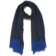 Paul's Boutique Classic Leopard Scarf - Tonal Blue