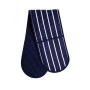 Premier Housewares Butcher Stripe Double Oven Glove - Navy