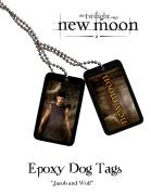 Twilight New Moon - Epoxy Dog Tags Jacob In Wolf
