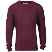 nANA jUDY Men's Picture Show Cable Knit - Black Cherry