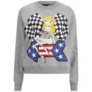 Love Moschino Women's Boxy Sweatshirt - Grey