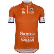 Santini Tour Down Under Ochre Leaders Short Sleeve Jersey - Orange