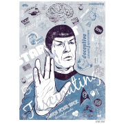 Star Trek Fine Art Print - Spock's Brain