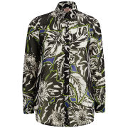 Neon Rose Women's Floral Shirt - Black