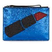 Lulu Guinness Glitter Lipstick Pouch - Dark Blue/Red