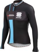 Sportful Gruppetto Men's Long Sleeved Thermal Jersey - Black/Anthracite/Cyan
