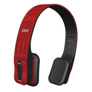 HMDX Jam Fusion Wireless Stereo Bluetooth Headphones - Red