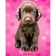 Keith Kimberlin Chocolate Labs Headphones - Mini Poster - 40 x 50cm