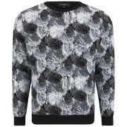 Ashley Marc Hovelle Men's Leaf Print Sweatshirt - Black