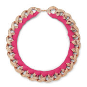 Impulse Women's Ribbon Wrapped Necklace - Fuschia