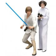 Kotobukiya Star Wars Luke Skywalker and Princess Leia ArtFX 1:10 Scale Statue