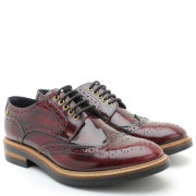 Base London Men's Woburn Brogues - Hi Shine Burgundy
