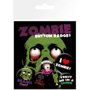 Zombies I Love - Badge Pack - 10 x 15cm