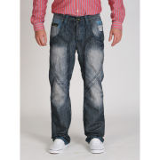 Seven Series Men's Kansas Contrast Stitching Jeans - Dark Wash
