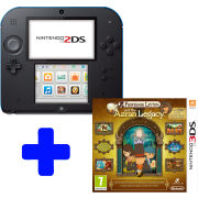 Nintendo 2DS Black & Blue Console: Bundle includes Professor Layton and the Azran Legacy