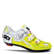 Sidi Genius 5 Fit/ Pro Road Cycling Shoes - White/Yellow