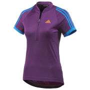 adidas Women's Response Short Sleeve Jersey - Tribe Purple/Solar Blue