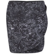 Maison Scotch Women's Marble Printed Wrap Skirt - Black