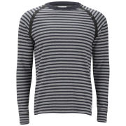 Wood Wood Men's Ringo Taped-Seam Long Sleeve Zig-Zag Sweatshirt - Navy
