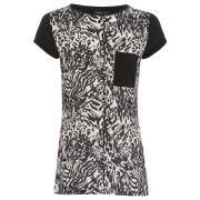 Damned Delux Women's Mixed Animal T-Shirt - Animal Print