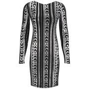 VILA Women's Beady Deep Back Dress - Silver