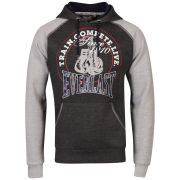 Everlast Men's Printed Raglan Hoody - Charcoal