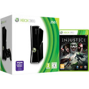 Xbox 360 250GB Matte Black Console: Bundle Includes Injustice: Gods Among Us