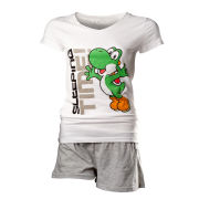 Yoshi - T-Shirt Women's Shortama (White)