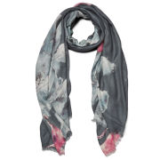 Knutsford Women's Floral Printed Cashmere Blend Scarf - Floral Blue