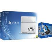 Sony PlayStation 4 500GB White Console - Includes Stereo Gaming Headset Starter Kit (Artic Camo)
