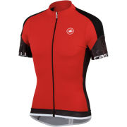 Castelli Entrata Full Zip Jersey - Red/Black