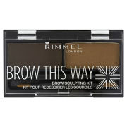 Rimmel Brow This Way Eyebrow Kit - 003 Dark Brown