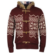 Tokyo Laundry Men's Saskatchewan Zip Through Knit - Oxblood