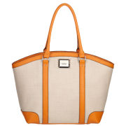 Fiorelli Jade Large Zip Top Shopper - Orange/Canvas Mix