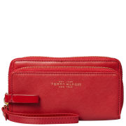 Tommy Hilfiger Women's Blaine Phone Holder Leather Pouch - Chilli Pepper