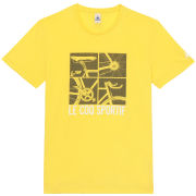 Le Coq Sportif Tour de France N12 Short Sleeved T-Shirt - Yellow