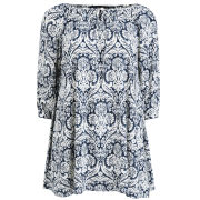 AX Paris Women's Paisley Smock Dress - Blue