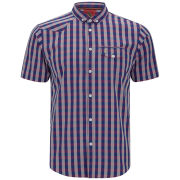 Luke 1977 Men's Hillerman Short Sleeve Shirt - Indigo Gingham