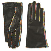 Paul Smith Accessories Women's Swirl Leather Insert Gloves - Black